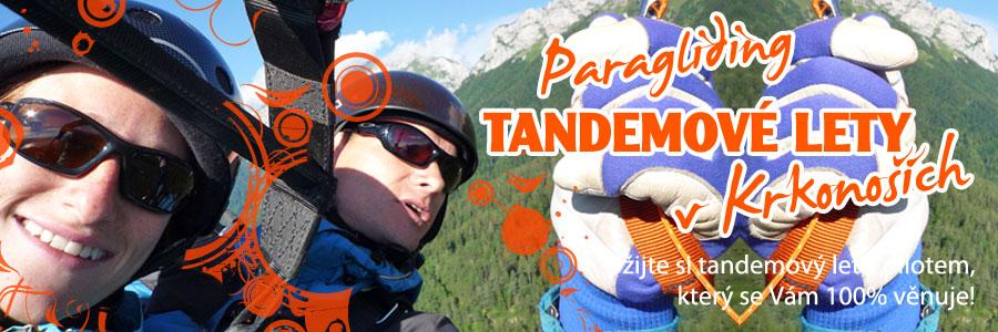 krkonoše tandem paragliding Martin Kohlíček