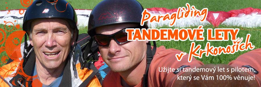 tandem paragliding krkonose