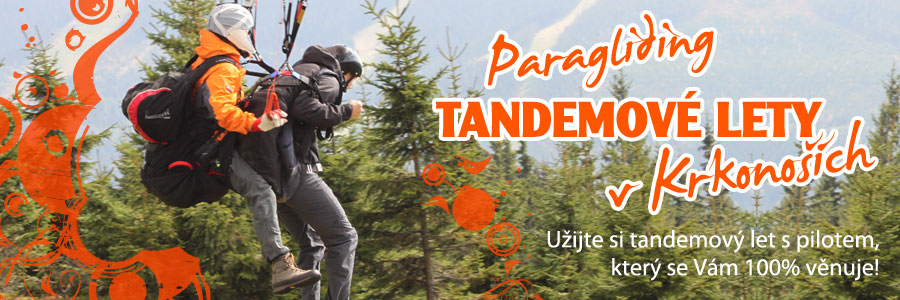 paragliding krkonose tandem